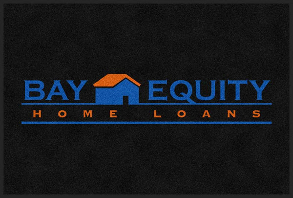 Bay Equity Home Loans 4 X 6 Rubber Backed Carpeted HD - The Personalized Doormats Company