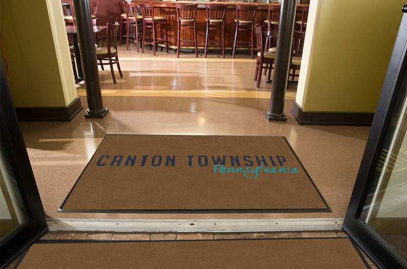 Canton Township 4 X 6 Rubber Backed Carpeted HD - The Personalized Doormats Company