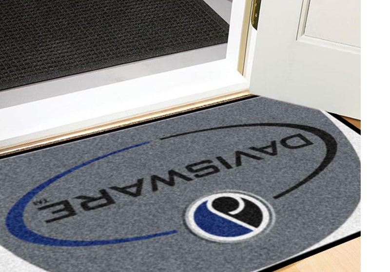 Davisware Rug 2 X 3 Rubber Backed Carpeted HD Half Round - The Personalized Doormats Company