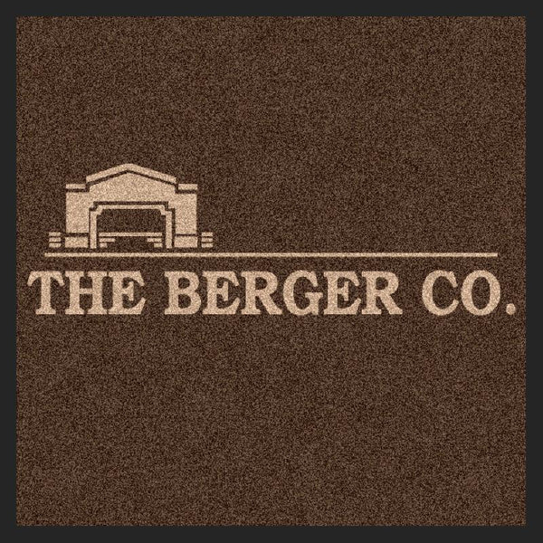 Berger Mat 2 X 2 Rubber Backed Carpeted HD - The Personalized Doormats Company