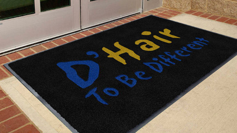 DHair 3 x 5 Flocked Olefin 2 Color - The Personalized Doormats Company