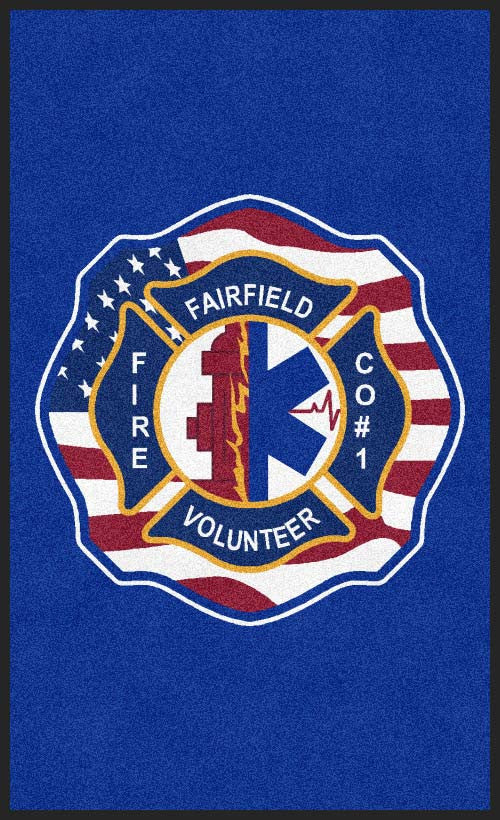 Fairton fire 3 X 5 Rubber Backed Carpeted HD - The Personalized Doormats Company
