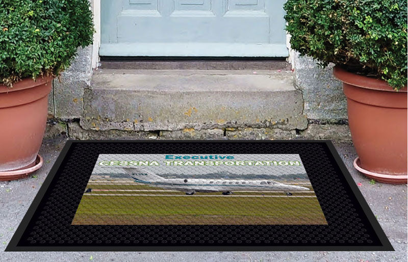Executive Air - King Air 3 X 4 Rubber Scraper - The Personalized Doormats Company