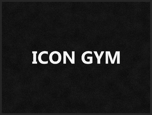 ICON GYM 3 X 4 Rubber Backed Carpeted HD - The Personalized Doormats Company