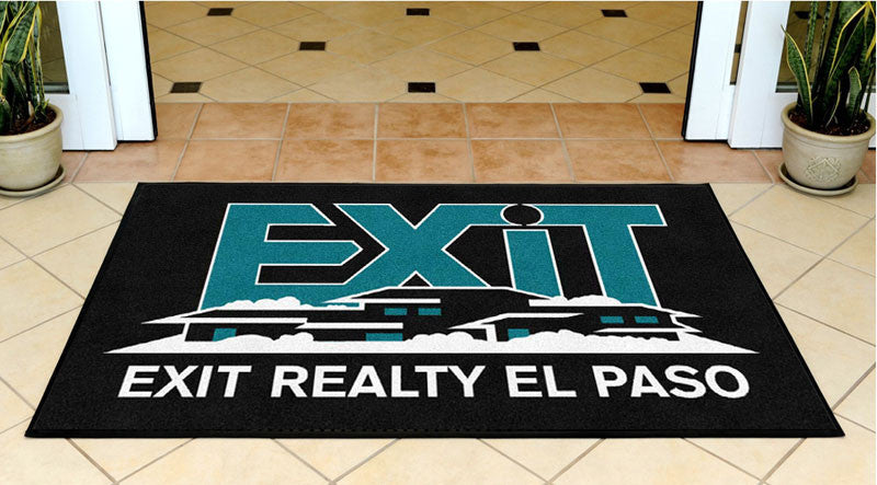 EXIT Mat 3 X 5 Rubber Backed Carpeted HD - The Personalized Doormats Company