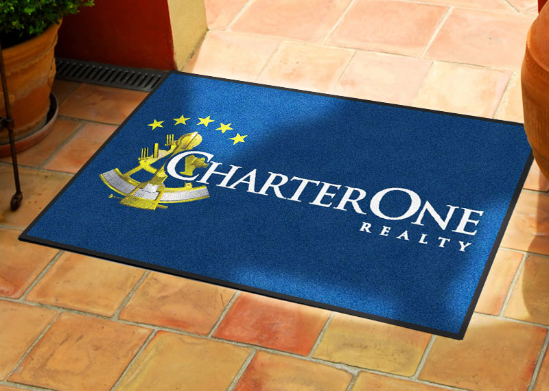 CharterOne Realty 2 X 3 Rubber Backed Carpeted HD - The Personalized Doormats Company
