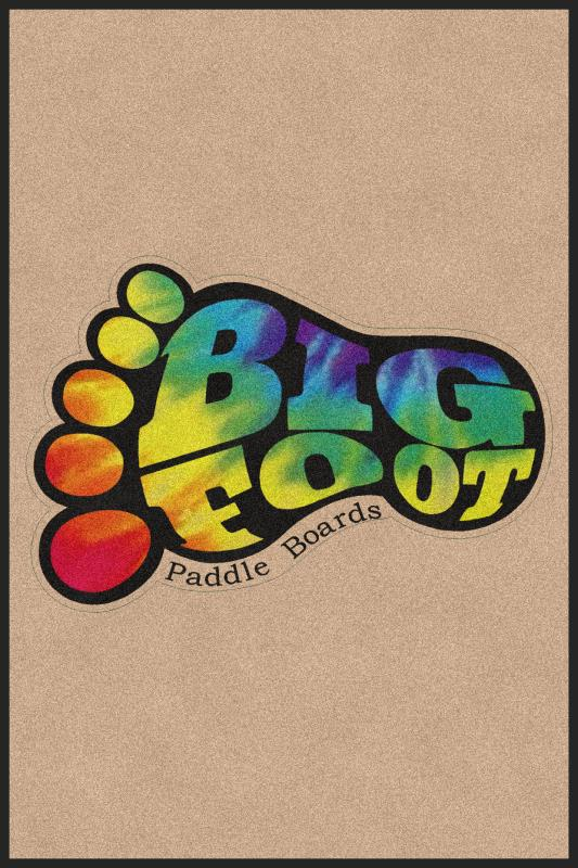 Big Foot Paddle Boards LLC 4 X 6 Rubber Backed Carpeted HD - The Personalized Doormats Company