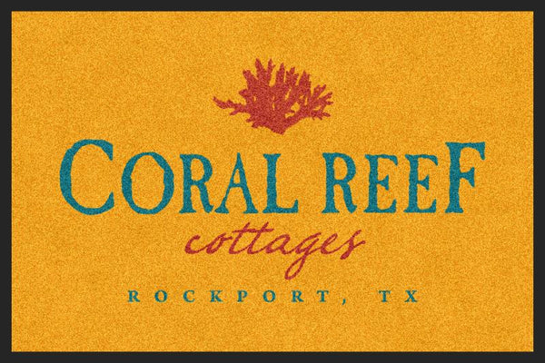 Coral Reef Test 2 X 3 Rubber Backed Carpeted HD - The Personalized Doormats Company