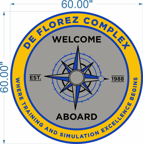 de Florez Welcome Aboard Mat (US Navy)