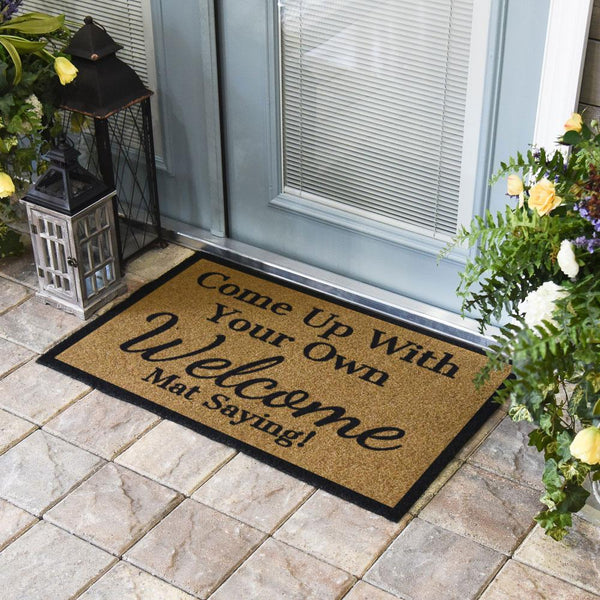 Duracoir Inlay Personalized | Single Border Duracoir Inlay | Doormats Direct