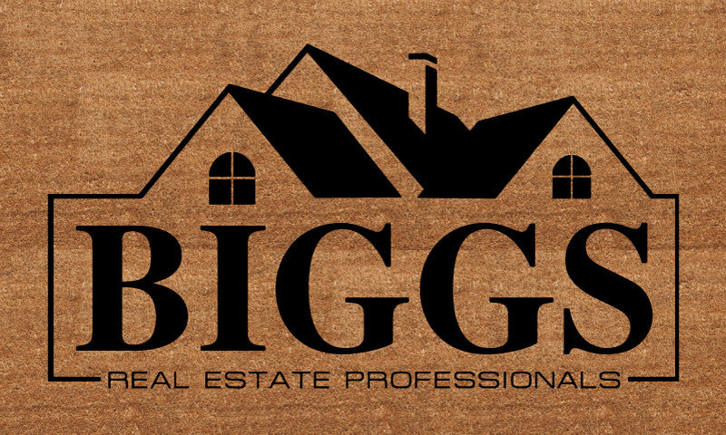 Biggs Real Estate Professionals 18 X 30 Flocked Classic Coir (PDC) - The Personalized Doormats Company