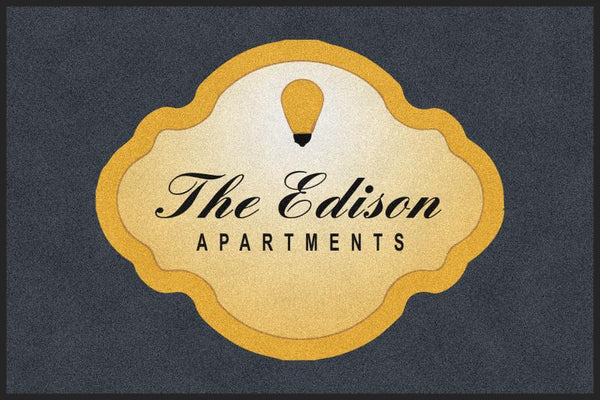 Edison Entrance Rug 4 X 6 Rubber Backed Carpeted HD - The Personalized Doormats Company