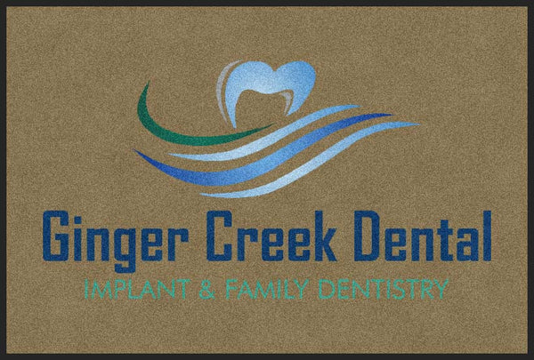 Ginger Creek indoor 2 X 3 Rubber Backed Carpeted HD - The Personalized Doormats Company