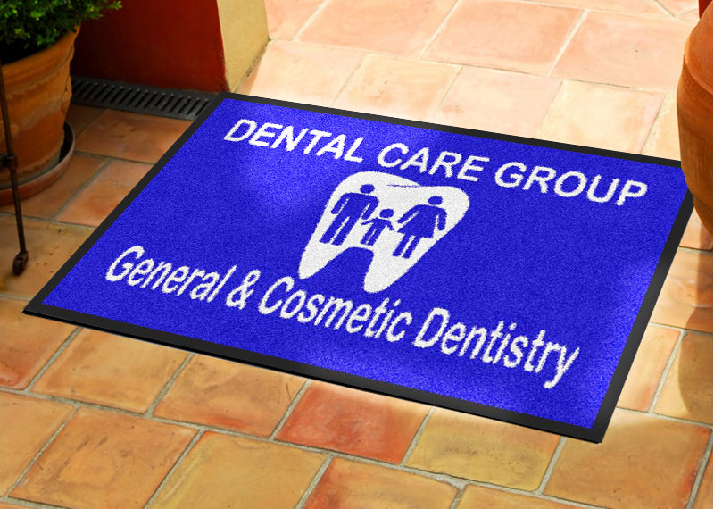 Dental Care Group 2 X 3 Rubber Backed Carpeted - The Personalized Doormats Company