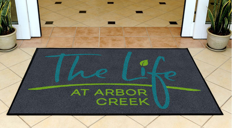 Arbor Creek Mat 3 X 5 Rubber Backed Carpeted HD - The Personalized Doormats Company