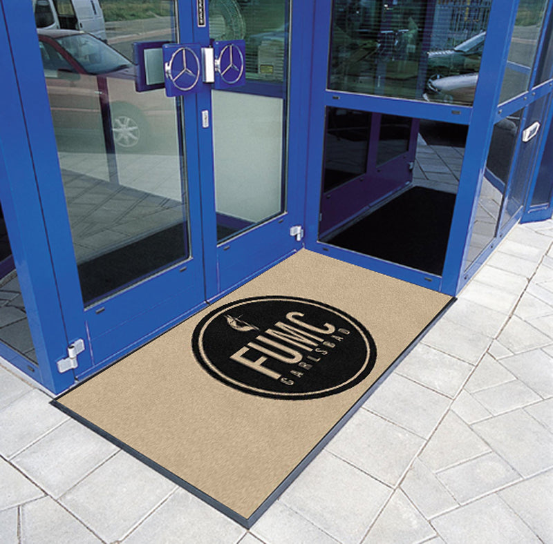 FUMC2 3 X 6 Rubber Backed Carpeted HD - The Personalized Doormats Company