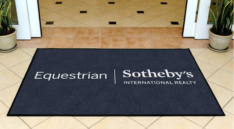 Equestrian Sotheby's 3 x 5 Rubber Backed Carpeted HD - The Personalized Doormats Company