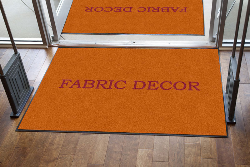 Fabric Decor 4 X 6 Rubber Backed Carpeted HD - The Personalized Doormats Company