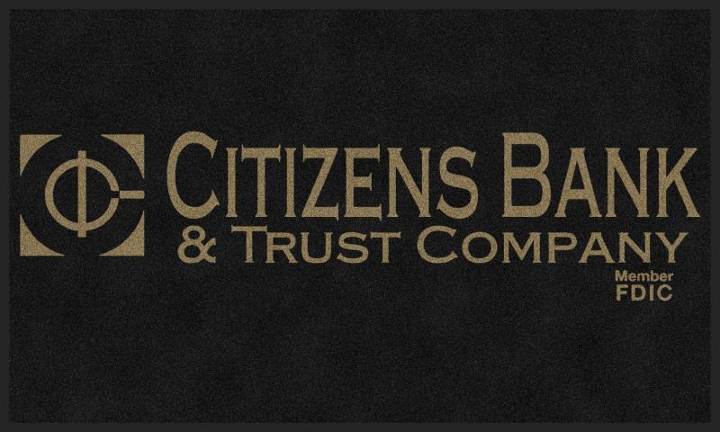 Citizens Bank 2 3 X 5 Rubber Backed Carpeted HD - The Personalized Doormats Company