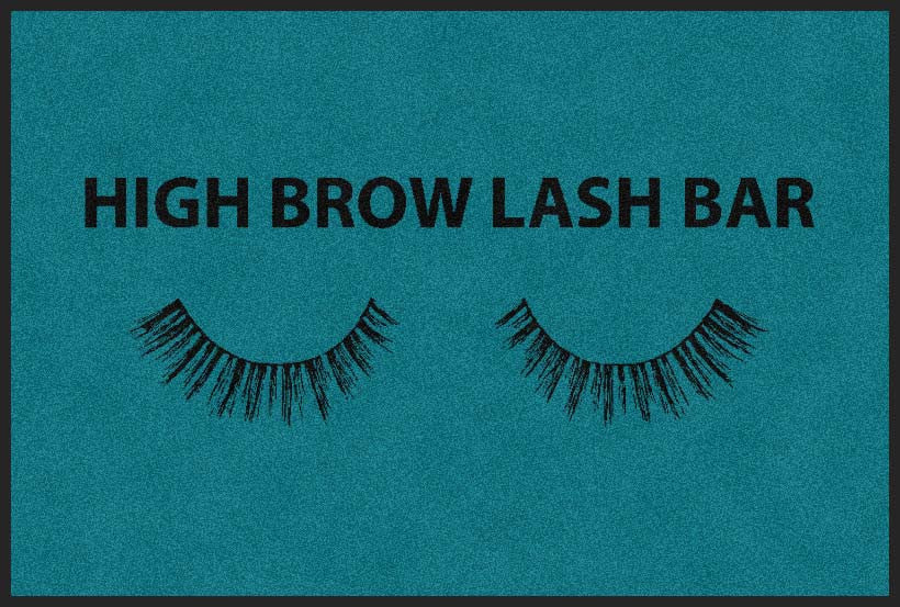 High Brow Lash Bar 2 X 3 Rubber Backed Carpeted HD - The Personalized Doormats Company