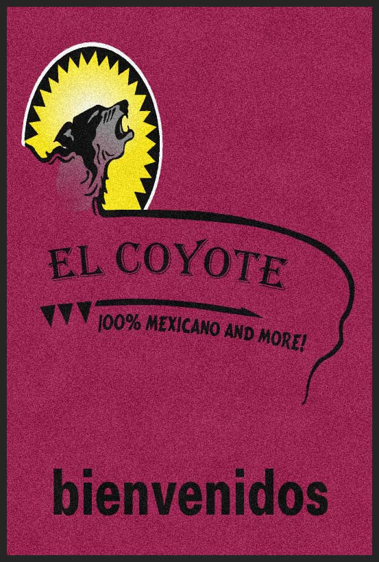 el coyote restaurant 4 X 6 Rubber Backed Carpeted - The Personalized Doormats Company