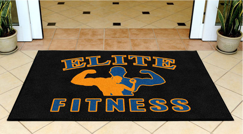 ELITE FITNESS 3 X 5 Rubber Backed Carpeted HD - The Personalized Doormats Company