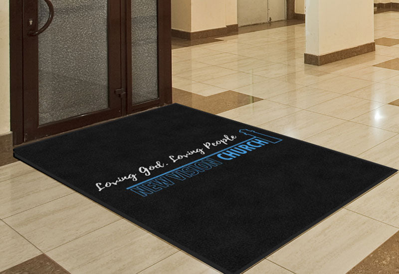 Church rug 4 X 6 Rubber Backed Carpeted HD - The Personalized Doormats Company