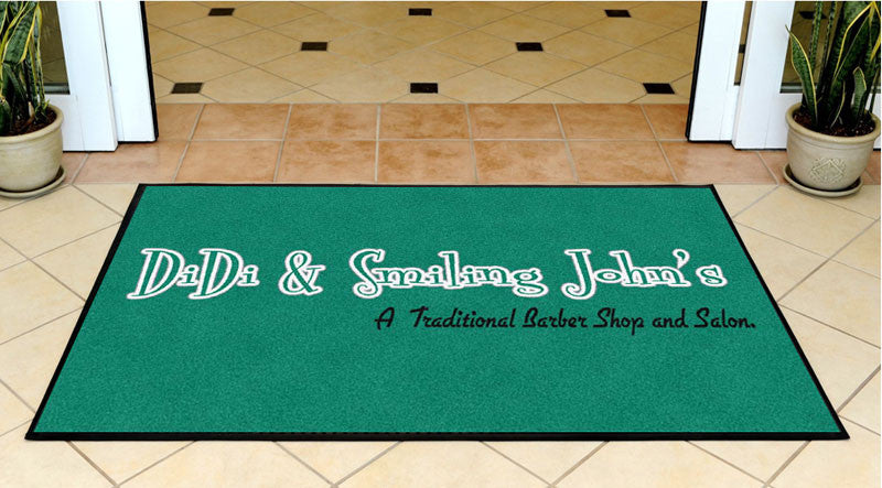 Didi & Smiling John's 3 X 5 Rubber Backed Carpeted HD - The Personalized Doormats Company