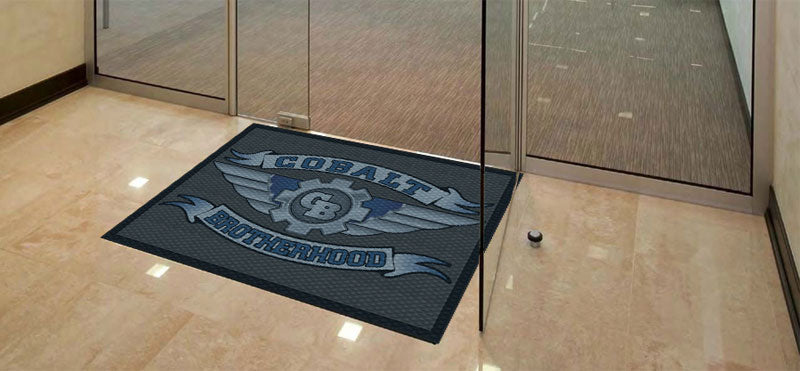 COBALT BROTHERS 3 X 4 Floor Impression - The Personalized Doormats Company