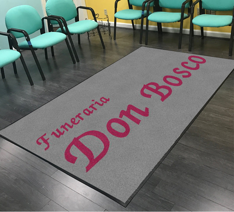 Don Bosco Funeral Home 5 X 8 Rubber Backed Carpeted - The Personalized Doormats Company