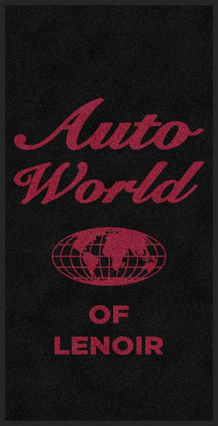 AutoWorld of Lenoir 4 X 8 Rubber Backed Carpeted HD - The Personalized Doormats Company