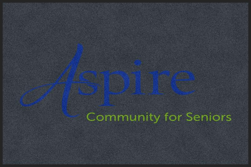 Aspire 4 x 6 Rubber Backed Carpeted HD - The Personalized Doormats Company
