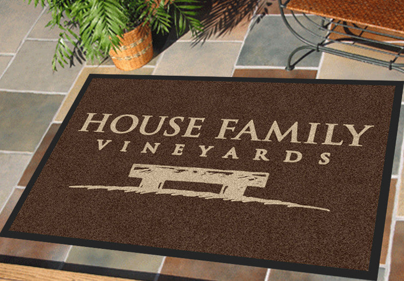 House Family 2 X 3 Rubber Backed Carpeted HD - The Personalized Doormats Company