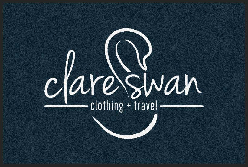 clare swan 2 x 3 Flocked Olefin 1 Color - The Personalized Doormats Company