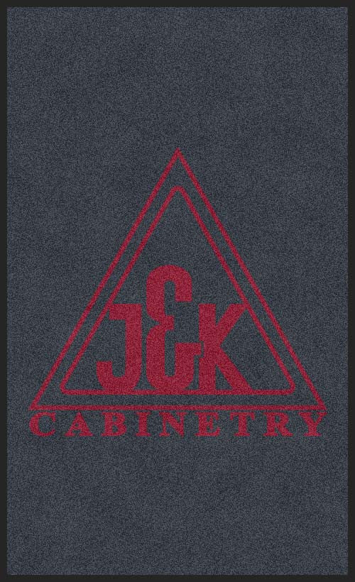 J&K Cabinetry 3 X 5 Rubber Backed Carpeted HD - The Personalized Doormats Company