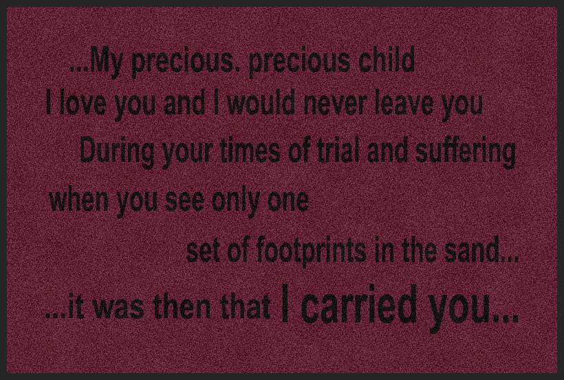 Footprints 2 X 3 Rubber Backed Carpeted HD - The Personalized Doormats Company