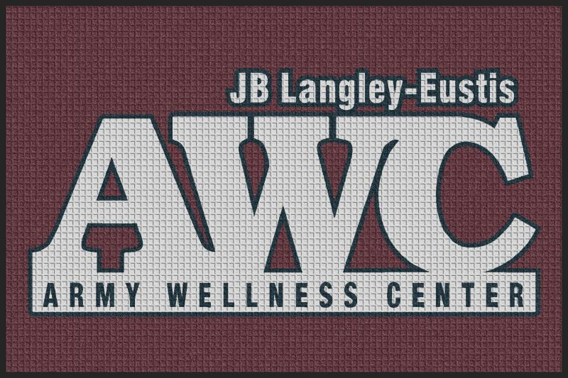 Fort Eustis 4 X 6 Waterhog Inlay - The Personalized Doormats Company