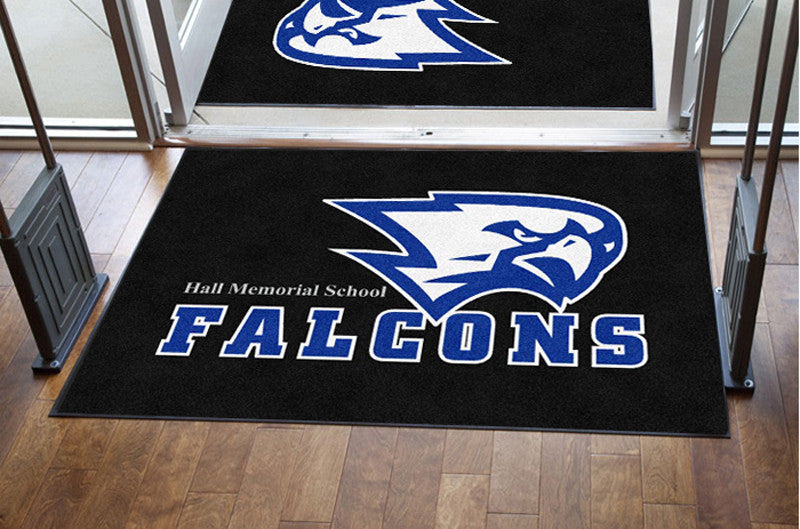 Hall Memorial School 4 X 6 Rubber Backed Carpeted HD - The Personalized Doormats Company