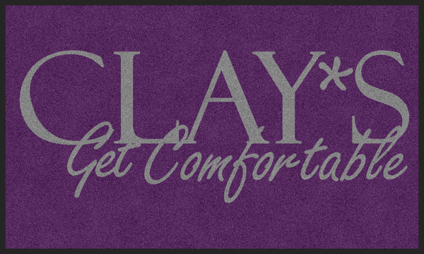 Clays 3 X 5 Rubber Backed Carpeted - The Personalized Doormats Company