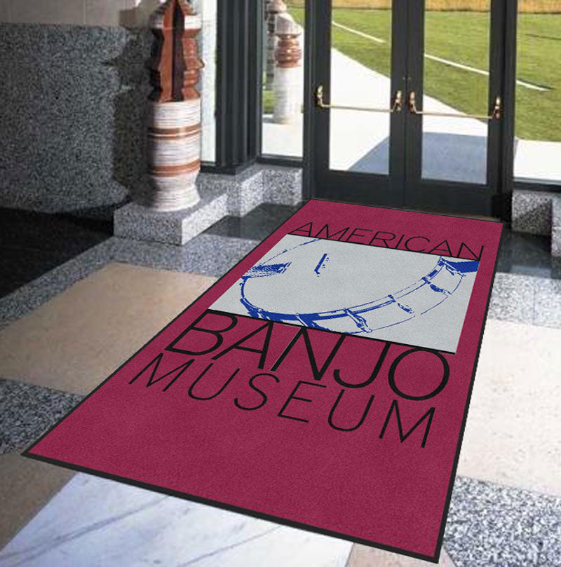 American Banjo Museum 6 X 10 Rubber Backed Carpeted HD - The Personalized Doormats Company