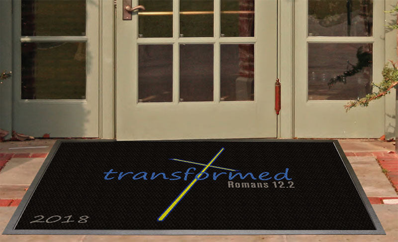 Church Entry 2018 3 x 5 Luxury Berber Inlay - The Personalized Doormats Company