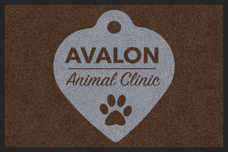Avalon Animal Clinic 2 X 3 Rubber Backed Carpeted HD - The Personalized Doormats Company
