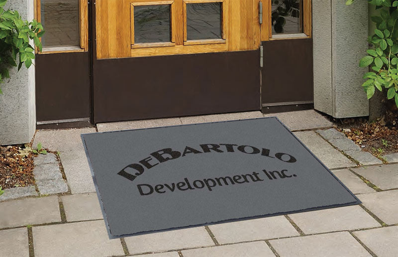 DeBartolo 2 x 3 Flocked Olefin 2 Color - The Personalized Doormats Company