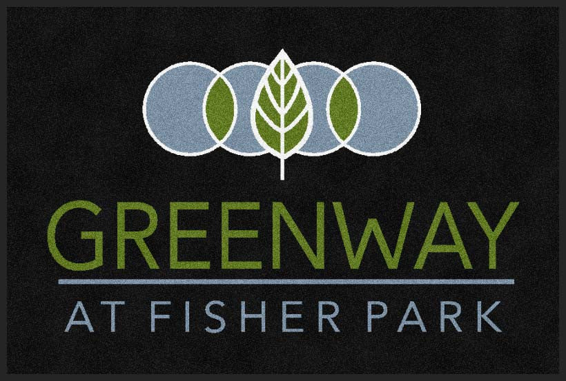 Greenway at Fisher Park 2 x 3 Rubber Backed Carpeted HD - The Personalized Doormats Company