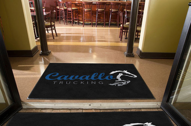 Cavallo Trucking 4 X 6 Rubber Backed Carpeted HD - The Personalized Doormats Company