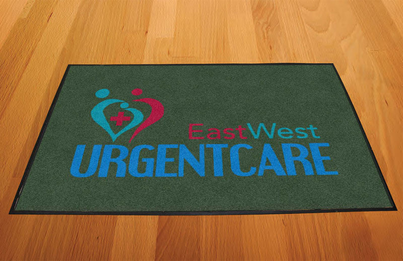 EAST WEST URGENT CARE 2 X 3 Rubber Backed Carpeted HD - The Personalized Doormats Company