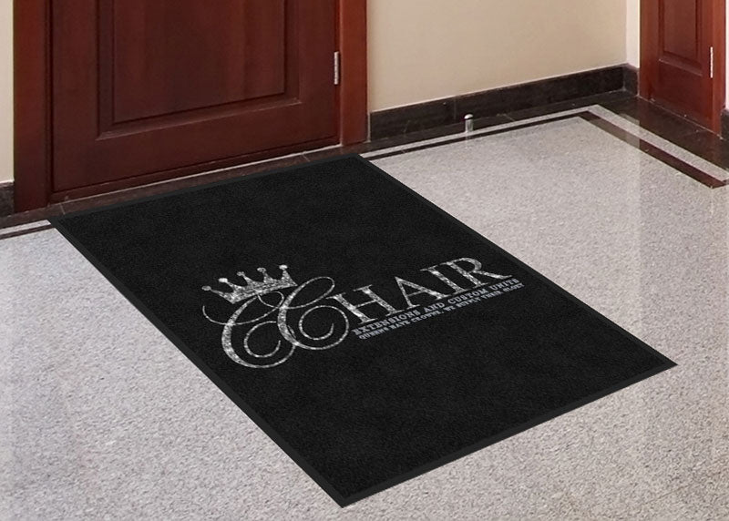 CC Hair 3 X 4 Rubber Backed Carpeted HD - The Personalized Doormats Company