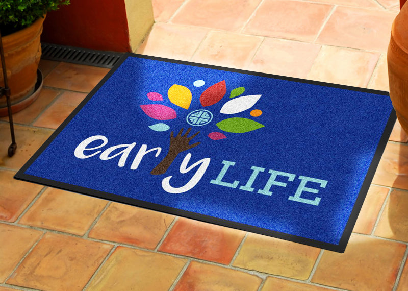 Early LIFE 2 X 3 Rubber Backed Carpeted HD - The Personalized Doormats Company