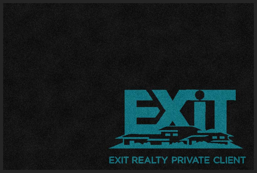 Exit Realty Private Client 2 X 3 Rubber Backed Carpeted HD - The Personalized Doormats Company