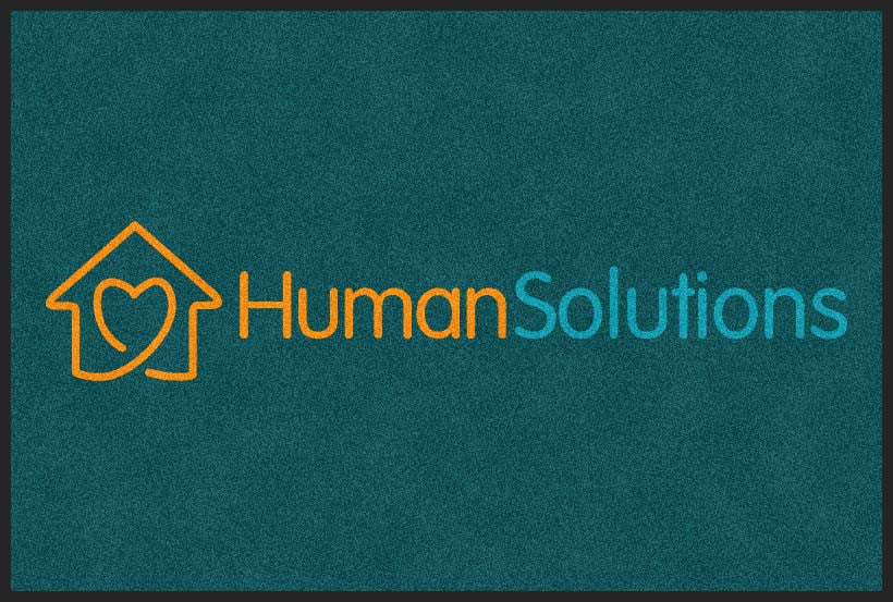 Human Solutions 4 X 6 Rubber Backed Carpeted HD - The Personalized Doormats Company